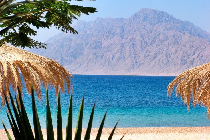 Nuweiba - beach with mountains at Reds sea , Egypt