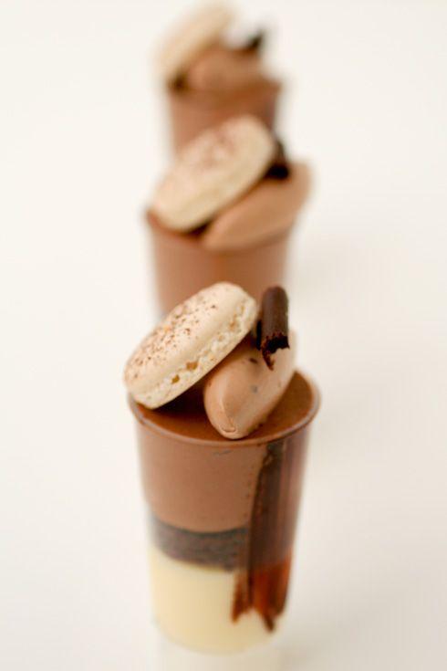 Chocolate Mousse and Meyer Lemon Cream Verrines