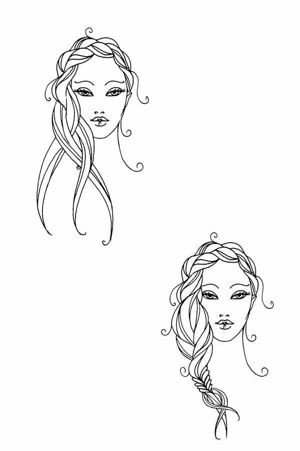 Nachdem ihr die Stirnpartie locker bis zum Ohr geflochten habt, switcht ihr jetzt zur Fischgrät-Technik: Die ungeflochtenen Längen des Zopfes in zwei Hälften teilen und in eine Hand nehmen. Abwechselnd mit der anderen Hand eine Strähne der restlichen Haare aus dem Nacken dazunehmen. Dabei die