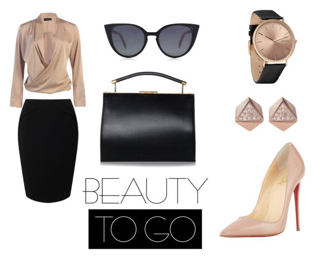 8 by ana-maria-utea on Polyvore featuring Jacques Vert, Christian Louboutin, RumbaTime, FOSSIL and Fendi