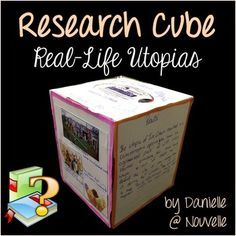 This short research project about utopias helps students practice skills like summarizing, paraphrasing, embedding quotes, and citing sources. Each side of the Research Cube targets a different skill and presents a different facet of the topic. Students will love this alternative to a research paper!