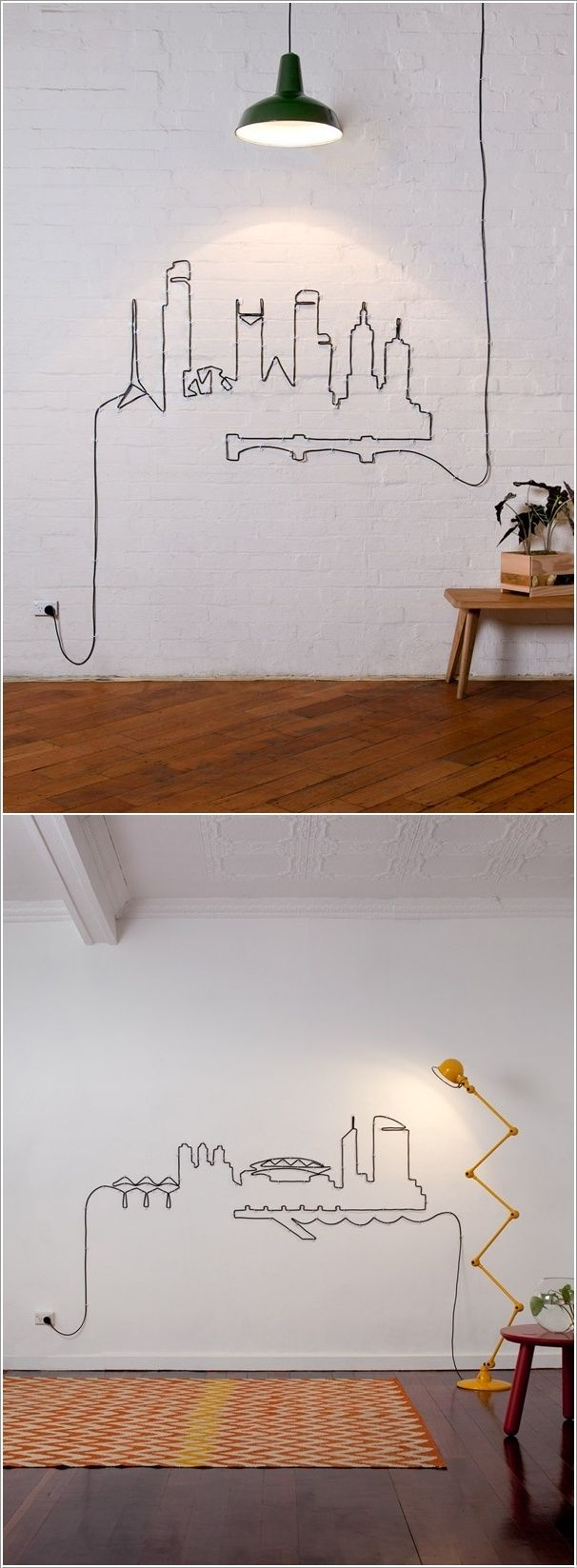 Best thing ever to do with extra long cords going across rooms.