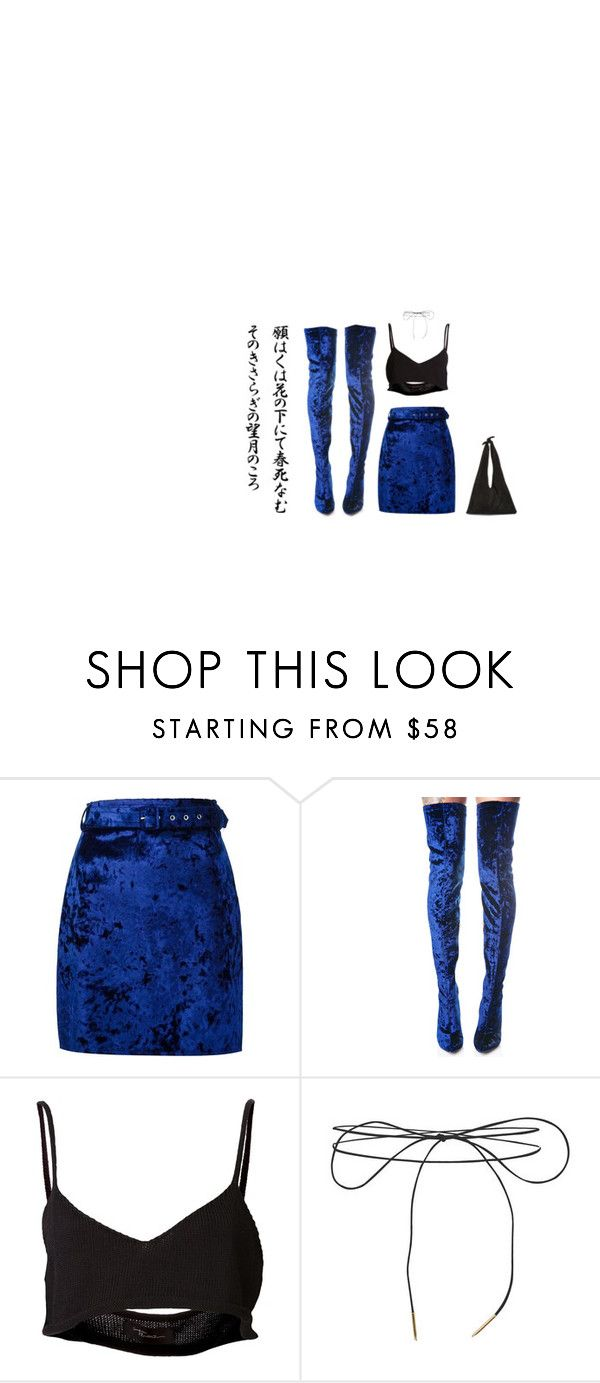 """""""black light"""" by wesker ❤ liked on Polyvore featuring MSGM, Cape Robbin, Area Di Barbara Bologna, Lilou, The Row, black, Blue, polyvoreeditorial and aesthetic"""
