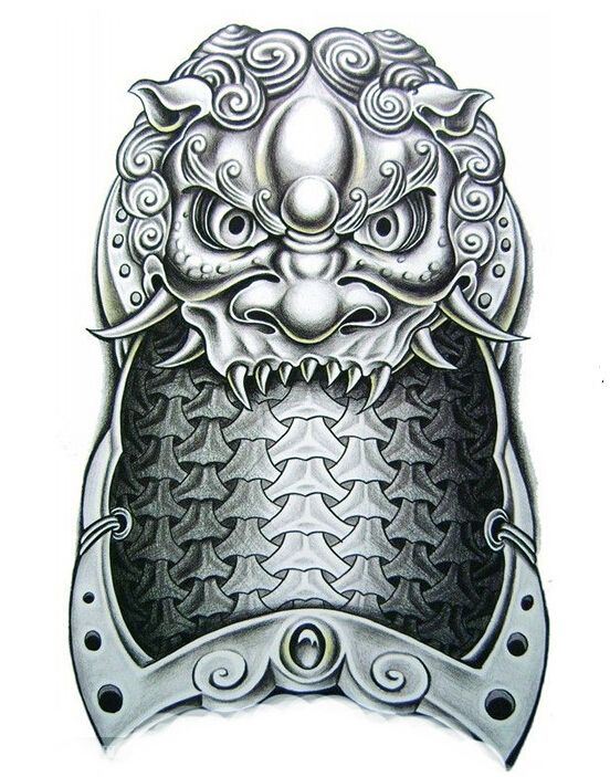 1sheet Big3D Shoulder Dragon Tattoo Armor Temporary Tattoo Sticker Body Art
