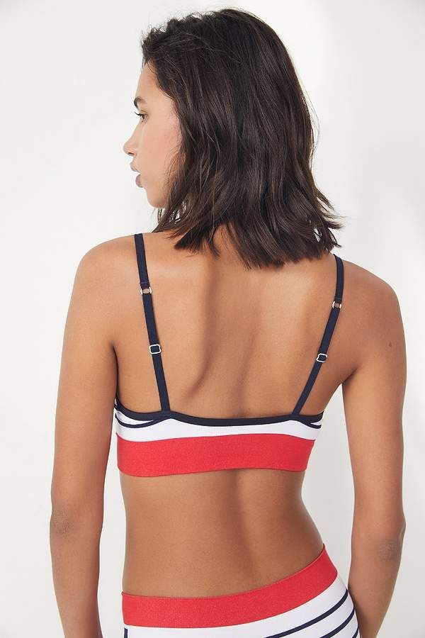 d0ae6a1c9b Tommy Hilfiger Striped Seamless Triangle Bra  Striped Hilfiger Tommy ...