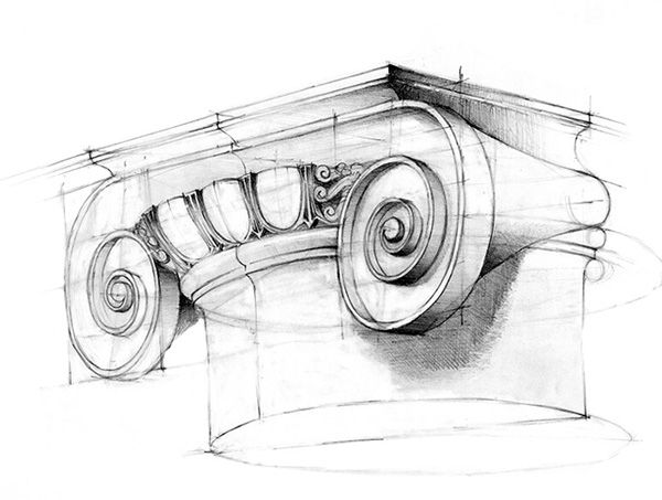 Pencil Architectural Illustration : Best architectural drawings images on pinterest