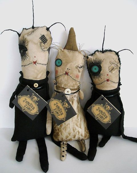 These characters are from the remarkable Junker Jane.  Her work is truly original and so very appealing.