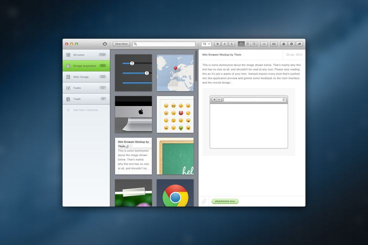 """Evernote can be used to create notes, voice memo, """"ink"""" notes, photographs, websites, etc."""