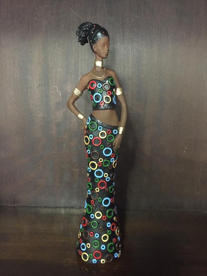 Africana | Dona Sereia - Artigos em gesso | Elo7