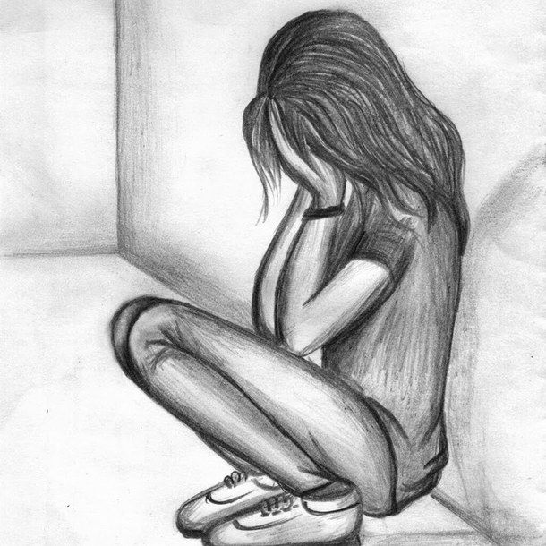 40+ Most Popular Pencil Sketch Girl Crying Drawing Easy