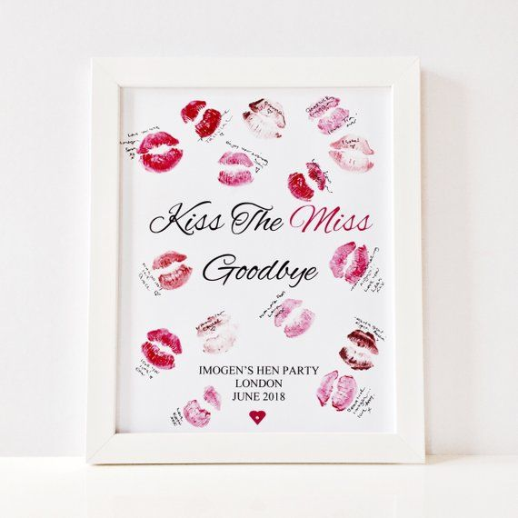 It's just an image of Kiss the Miss Goodbye Printable for future mrs printable