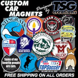 """Nothing But The Best"" in Custom #Car #Magnets, #Window #Decals, #CustomBalls & more at http://www.TSGcreations.com. NO ONE beats our #value & designed #impact. For #carmagnets & more, go to http://www.TSGcreations.com - the REAL #tsgsports at http://www.TSGsports.com"