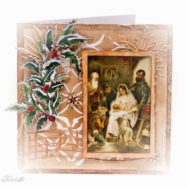Vintage style Christmas card