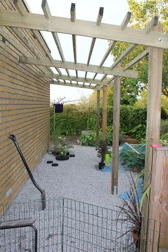 pergola on the side of the house? covered garden...