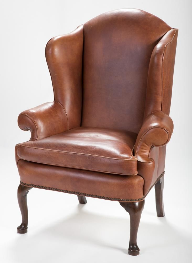 Queen Anne Leather Armchair Leather Armchair Leather Chaise