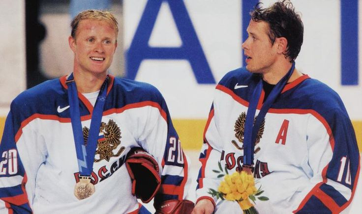 Valeri Bure with his older brother Pavel Bure
