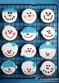 Christmas Cookies - Snowmen