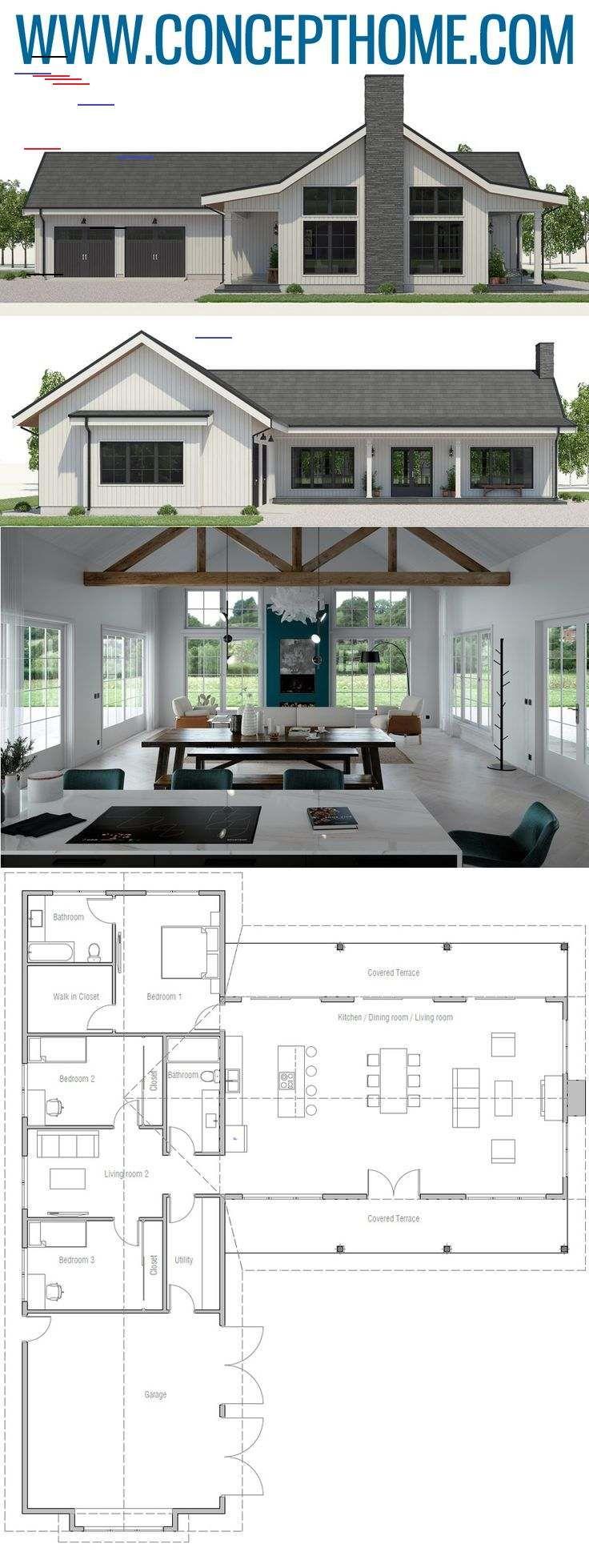 Home Plan CH20   Lake house plans, House plans farmhouse, Modern ...
