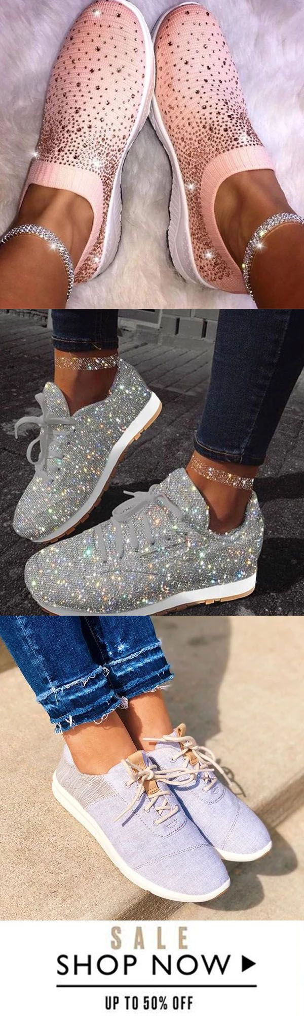 Save 50% now >> Women Fashion Casual Sneakers   – Bastelidee