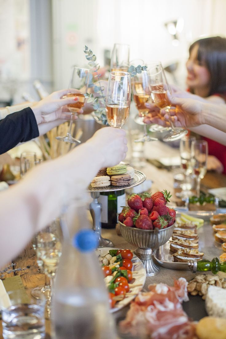 ideas for bridal shower brunch food%0A Champagne Tasting Bridal Shower Inspiration