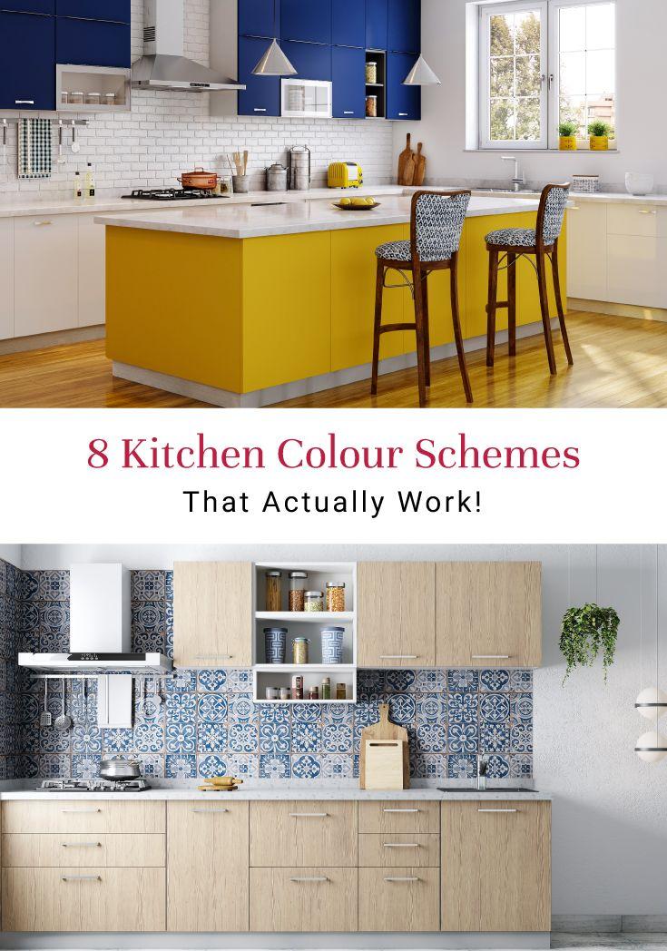 8 Colour Schemes For Indian Kitchens Kitchen Colour Combination Kitchen Colour Schemes Kitchen Cabinets Color Combination Kitchen room colour combination kitchen