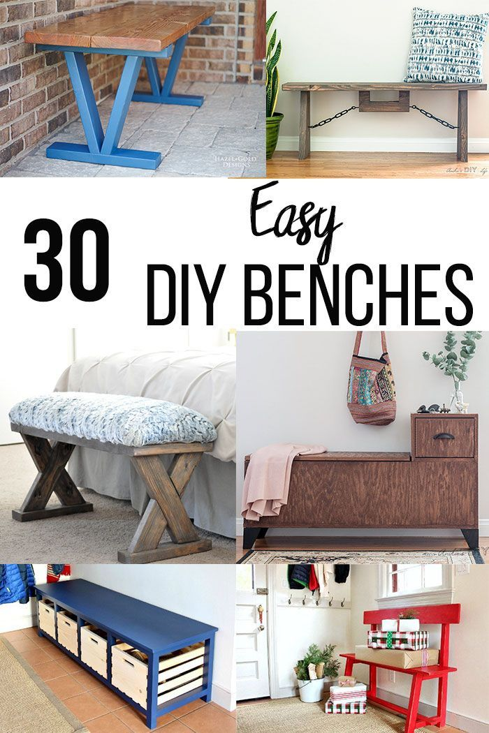 30 easy diy bench ideas you can build today beginner woodworking rh pinterest com