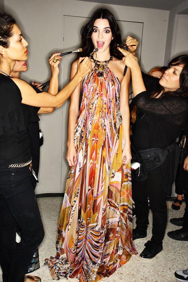 Emilio Pucci fashion show backstage, more pics here > http://sonnyphotos.com/2014/09/emilio-pucci-ss15-fashion-show-milan-backstage