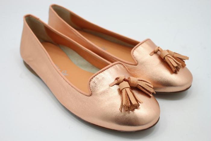 Eli kinderschoenen ballerina roze gold
