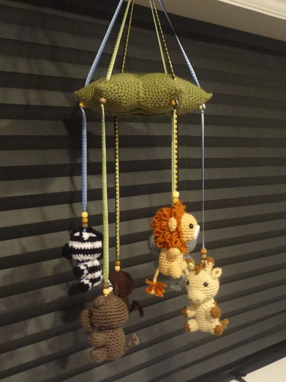 Hey, I found this really awesome Etsy listing at https://www.etsy.com/listing/219004359/crochet-baby-mobile-jungle-animals