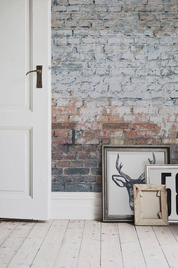 25 best ideas about brick wallpaper on pinterest textured brick wallpaper fake brick and - Bedroom with brick wallpaper ...