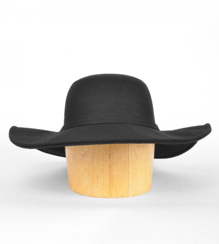 Wool Felt Wide Brim Floppy Hat - New