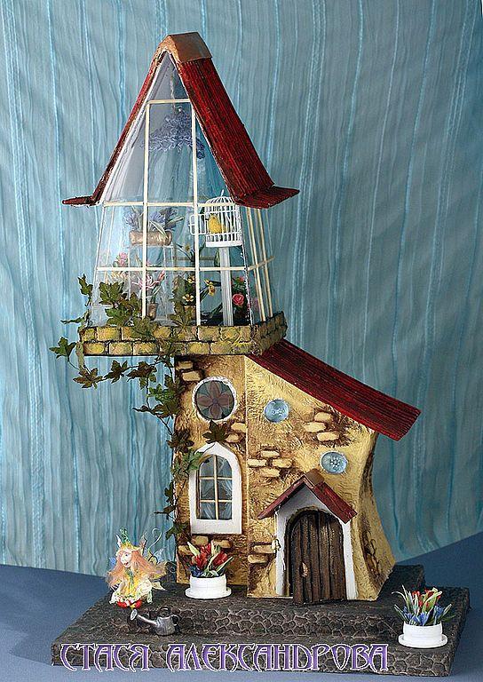 Волшебная Оранжерея - Авторские домики, домики, миниатюрные домики, домик светильник, оранжерея, handmade