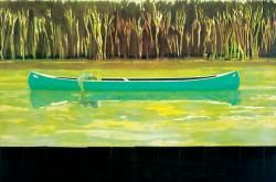 Peter Doig Canoe-Lake  1997  Oil on Canvas  200 x 300cm