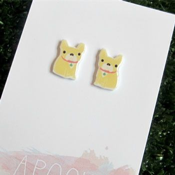 French Bulldog Earrings Unique Gifts Designed & Made in Australia – Bits of Australia