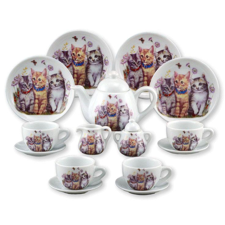 reutter porcelain little kittens tea set for little girls fine porcelain child 39 s teaset value. Black Bedroom Furniture Sets. Home Design Ideas