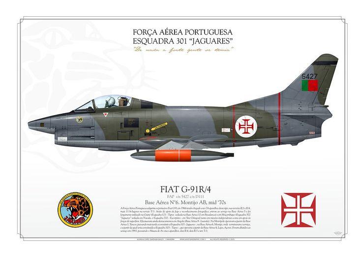 """PORTUGUESE AIR FORCE . Força Aérea PortuguesaEsquadra 301 """"Jaguares"""".Base Aérea N°6. Montijo AB. mid '70s"""