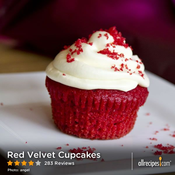 "Red Velvet Cupcakes | ""I took into account the previous reviews and used 1/4 cup cocoa. I've been told by a huge red velvet fan these were the best home-made she ever had!"""