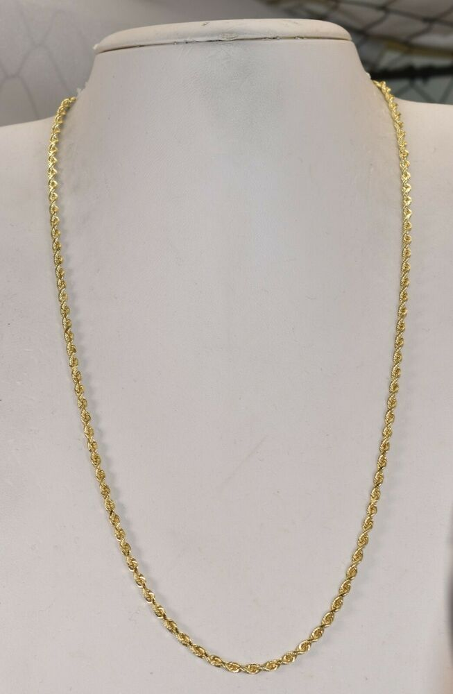 14 K Yellow Gold 2 5 Mm Rope Chain 20 Inch 10 1 Grams Chain In 2020 Gold Chains For Men Chain Yellow Gold Chain