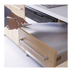 IKEA - VARIERA, Tapis de tiroir, Atténue le bruit et protège le tiroir ou l'étagère contre les rayures.Peut être coupé aux dimensions souhaitées.