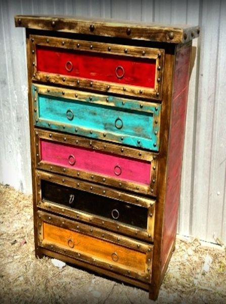Colorido Rustic Dresser - Sofia's Rustic Furniture