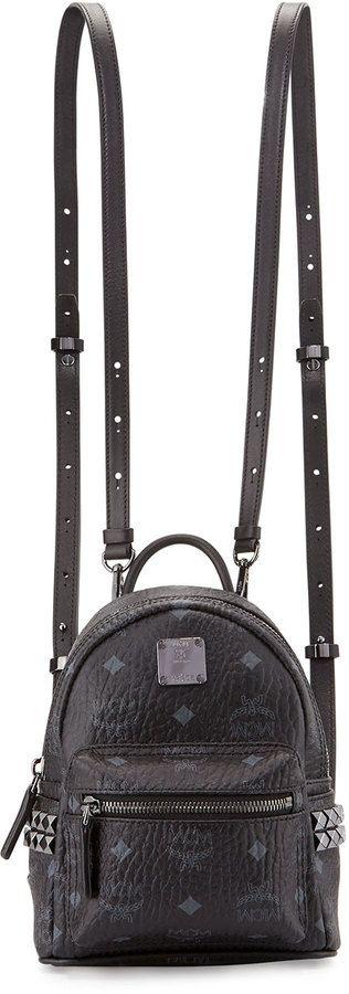 MCM Stark Side-Stud X-Mini Backpack, Black - $670.00
