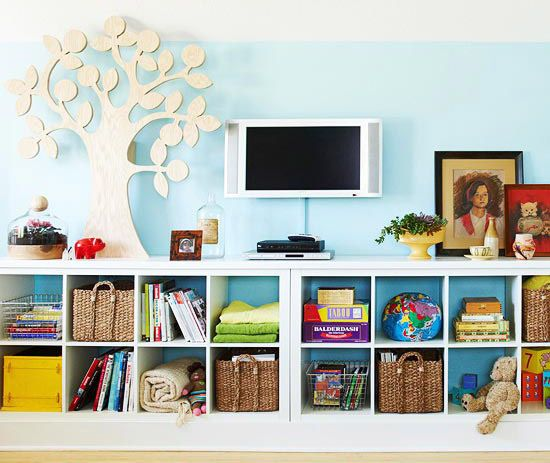 kids toy storage - neat, looks good and practical