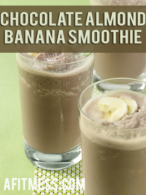 Chocolate Almond Banana Smoothie, but add chocolate shakeology instead ...