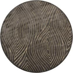 Hand-tufted Mandara Grey Geometric Wool Rug (7'9 Round) Like and Repin.  Noelito Flow instagram http://www.instagram.com/noelitoflow