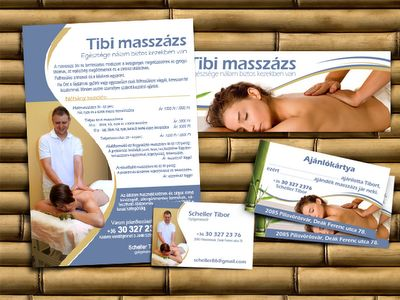 Flyer, business card, Facebook cover and referral cards.