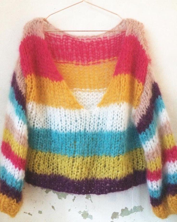 Chunky mohair sweater by Patkas Berlin