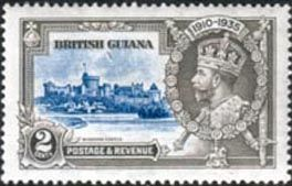 British Guiana 1935 King George V Silver Jubilee SG 301 Fine Mint Scott 223 Other British Guiana Stamps HERE