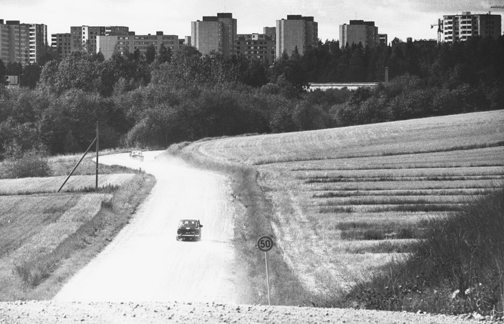 Vantaa grew rapidly in the 1970's. The picture is from Hakunila, Eastern Vantaa