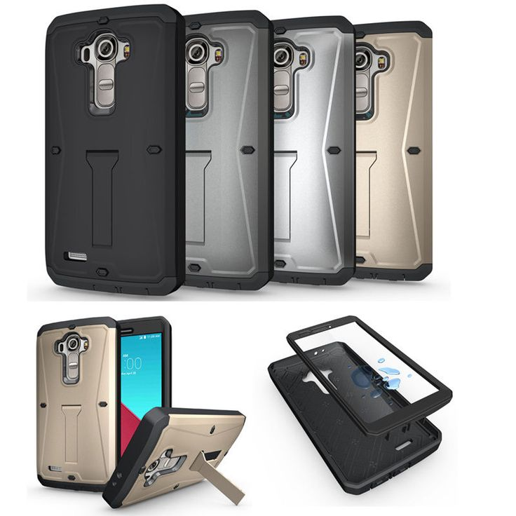 Shock/Dirt/Water Proof Slim Case Screen Protecter Stand Back Cover For LG G4 USA…