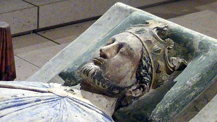 U.K. Richard I the Lionheart buried next to his mother Queen Alienor d'Aquitaine and his father King Henry II of England in Fontevraud Royal Abbey, France